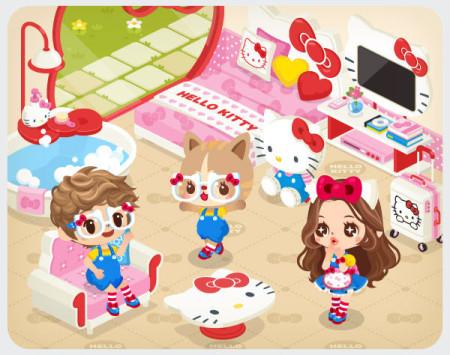 LINEの仮想空間「LINE Play」にハローキティが登場! 3