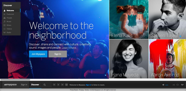 MySpace、新デザインに完全移行 旧デザインは廃止へ