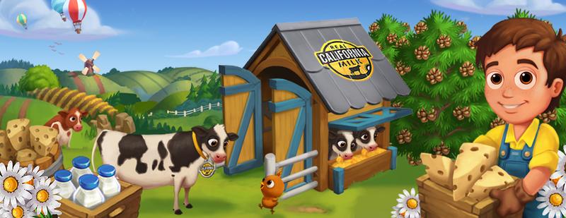 米乳製品ブランドの「REAL CALIFORNIA MILK」、今度はZyngaの農業ソーシャルゲーム「FarmVille2」とコラボ1