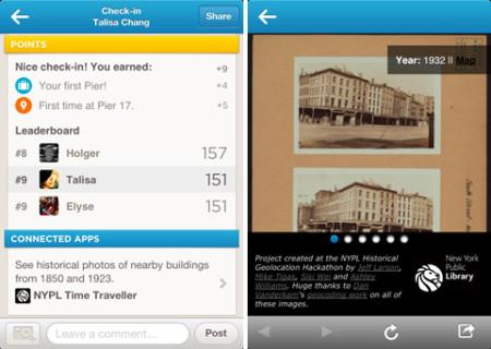 """位置登録で歴史散歩も楽しめる---foursquare、100年前のニューヨークの写真が見られる""""タイムマシン""""サービスを開始"""