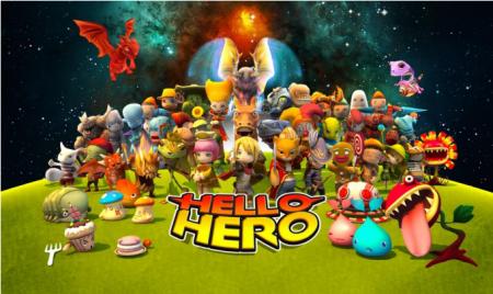 ゲームオン提供のスマホ向けRPG「HELLO HERO」、70万ダウンロード突破