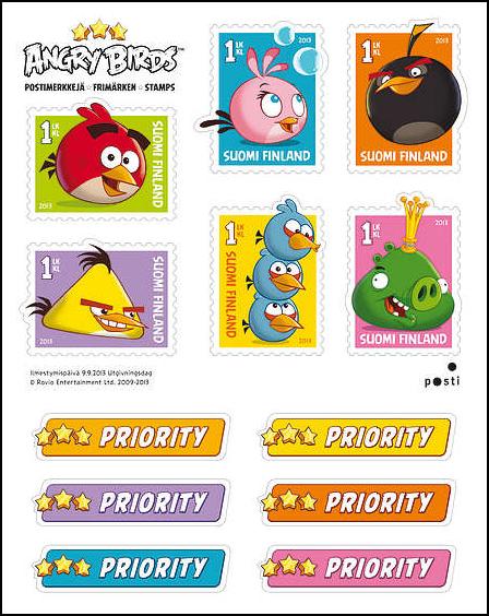 フィンランド郵政、Angry Birdsの切手シートを販売