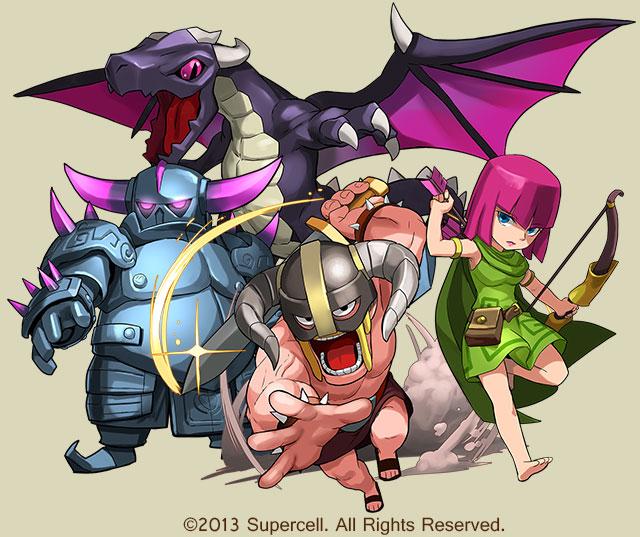 【続報】ガンホー、「パズル&ドラゴンズ」&「Clash of Clans」のコレボレーションの詳細を公開1