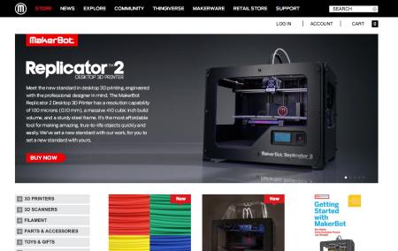 業務用3DプリンタメーカーのStratasys、個人向け3DプリンタメーカーのMakerBotを4億300万ドルで買収2