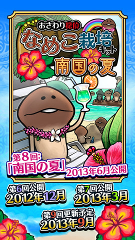 今回のテーマはトロピカル! 「おさわり探偵 なめこ栽培キット Seasons」が新テーマ「南国の夏」にアップデート1