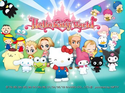 ニフティとサンリオウェーブ、スマホ向け遊園地運営ゲーム「Hello Kitty World」のAndroid版をリリース1