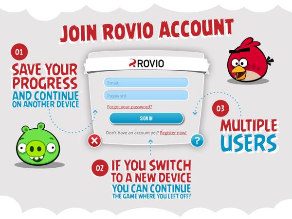端末を替えても大丈夫 Rovio、アカウントサービス「Rovio Account」を全世界に向け提供開始1