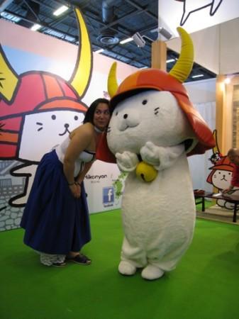 【Japan Expoレポート】ゆるキャラブームの火付け役ひこにゃん、彦根ブースで彦根城をPR3