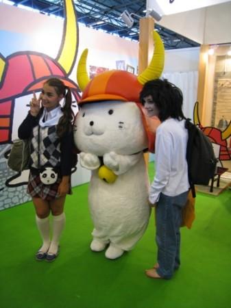 【Japan Expoレポート】ゆるキャラブームの火付け役ひこにゃん、彦根ブースで彦根城をPR6