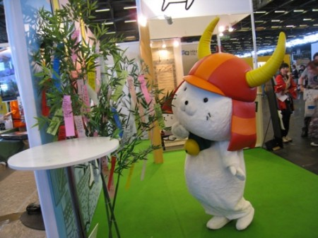 【Japan Expoレポート】ゆるキャラブームの火付け役ひこにゃん、彦根ブースで彦根城をPR10
