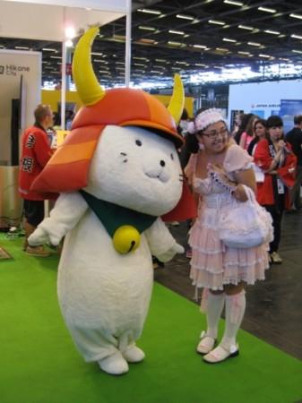 【Japan Expoレポート】ゆるキャラブームの火付け役ひこにゃん、彦根ブースで彦根城をPR8