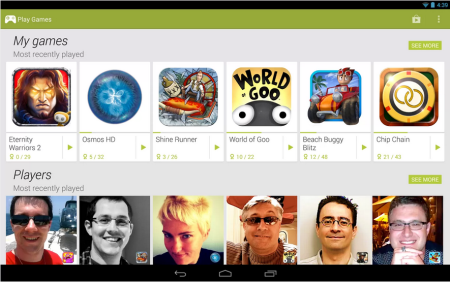 Google、Android向けゲームアプリのソーシャル機能「Google Play Games」を提供開始