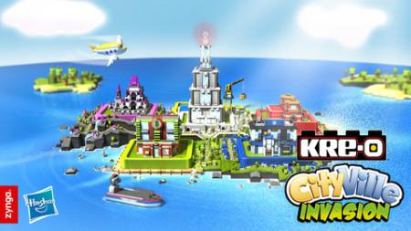 Zyngaとハズブロ、ブロック玩具「KRE-O」を題材にしたiOS向けゲームアプリ「KRE-O CityVille Invasion」をリリース 8月よりゲームのリアル玩具も販売1