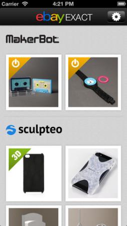 eBay、3Dプリンタ製グッズをオーダーできるiOSアプリ「eBay Exact」をリリース1