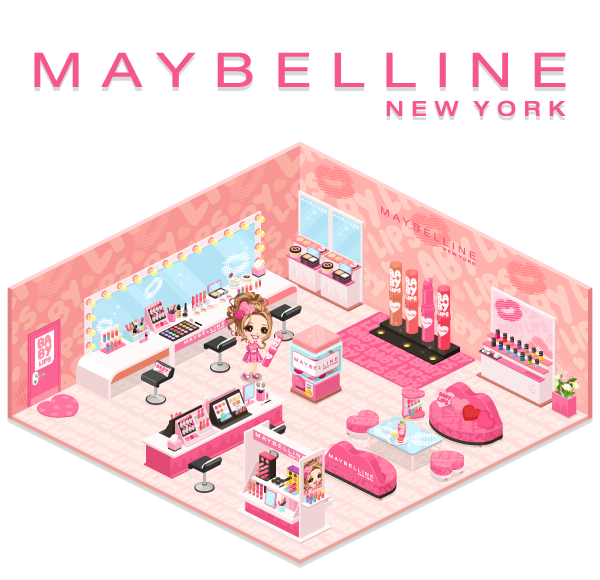 「LINE」のスマホ向け仮想空間アプリ「LINE Play」に「メイベリン ニューヨーク」の公式アバターが登場1