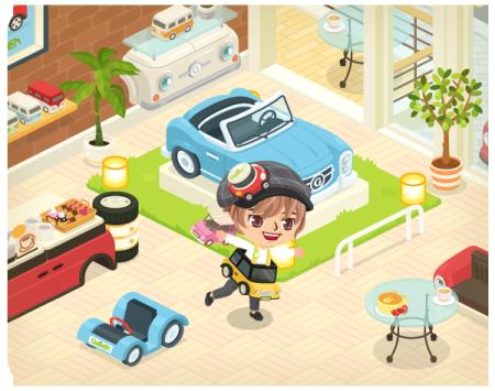 「LINE」のスマホ向け仮想空間アプリ「LINE Play」に中古車販売の「ガリバー」のカスタムルームが登場3