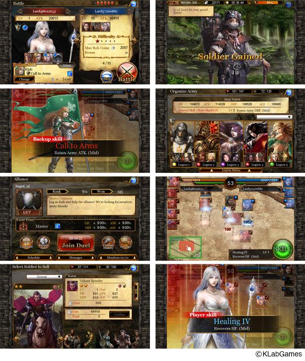 KLab、日本と欧米のゲームデザインを融合させたiOS向け新作ストラテジーゲーム「Rise to the Throne」を161ヶ国にて提供開始2