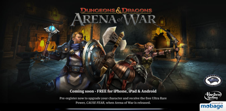 DeNA、「ダンジョンズ&ドラゴンズ」のスマホ向けソーシャルゲーム「Dungeons & Dragons Arena of War」の事前登録受付を開始
