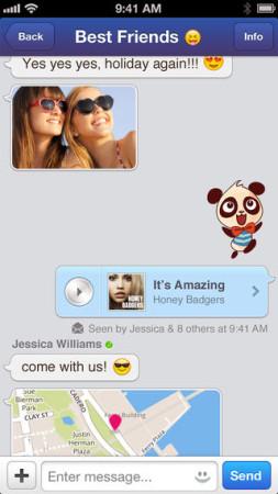 アメリカのスマホ向けメッセージングアプリ「MessageMe」、iOS版にスタンプ機能を追加2