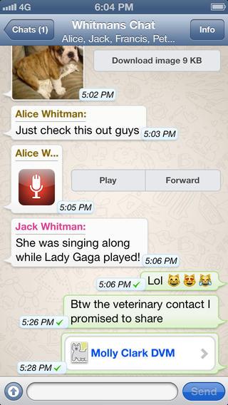 スマホ向けメッセージングアプリ「WhatsApp」、ボイスメッセージ機能を追加1