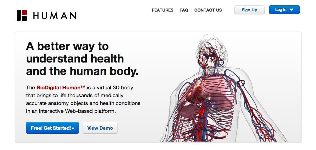 3D人体模型のBioDigital、400万ドル資金調達