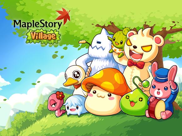 ネクソンがLINE GAMEに参入! 人気MMO「メイプルストーリー」のモンスター達と村を作るスマホ向けシミュレーションゲーム「LINE MapleStory Village」をリリース1