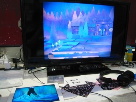 【TGS2013レポート】「飛び出す絵本」をiPad上に完全再現した純和風アドベンチャーゲーム「Tengami」 開発は日英合同チーム2