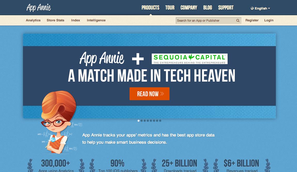 スマホアプリ分析のApp Annie、セコイア・キャピタルより1500万ドル資金調達