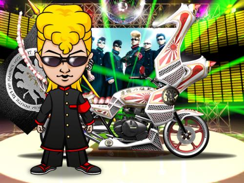 Donuts、ソーシャルゲーム「暴走列伝 単車の虎」にてロックバンド「氣志團」がコラボを実施1