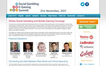 ギャンブルとソーシャルゲームの融合を—11/21にロンドンにて「Social Gambling & Gaming Summit」開催