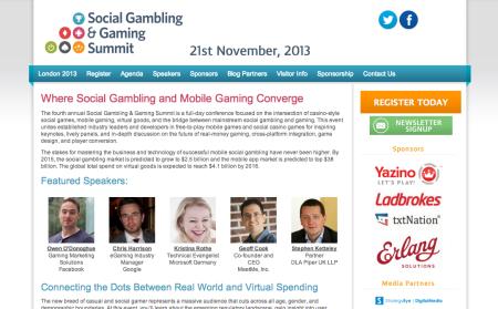 ギャンブルとソーシャルゲームの融合を---11/21にロンドンにて「Social Gambling & Gaming Summit」開催