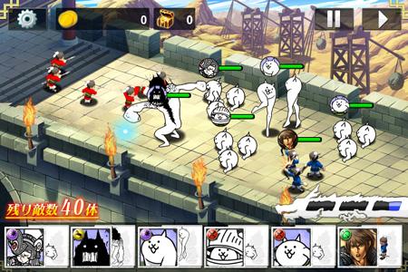 スクエニの「三国志乱舞」がキモかわにゃんこディフェンスゲーム「にゃんこ大戦争」と異色コラボ3