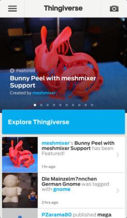 3Dデータ共有プラットフォーム「Thingiverse」、作品閲覧用のiOSアプリをリリース1