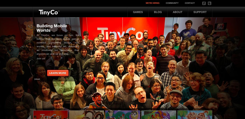米モバイルゲームディベロッパーのTinyCo、2000万ドル資金調達