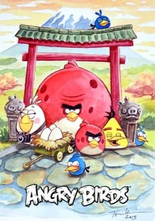 Rovio、パズドラ&Angry Birdsのイラストコンテストの賞品を公開 大賞にはToni Kysenius氏の水彩画を贈呈2
