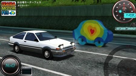 バンダイナムコゲームス、iOS向けレースゲーム「リフトスピリッツ」にて「お台場モーターフェス」とコラボ3