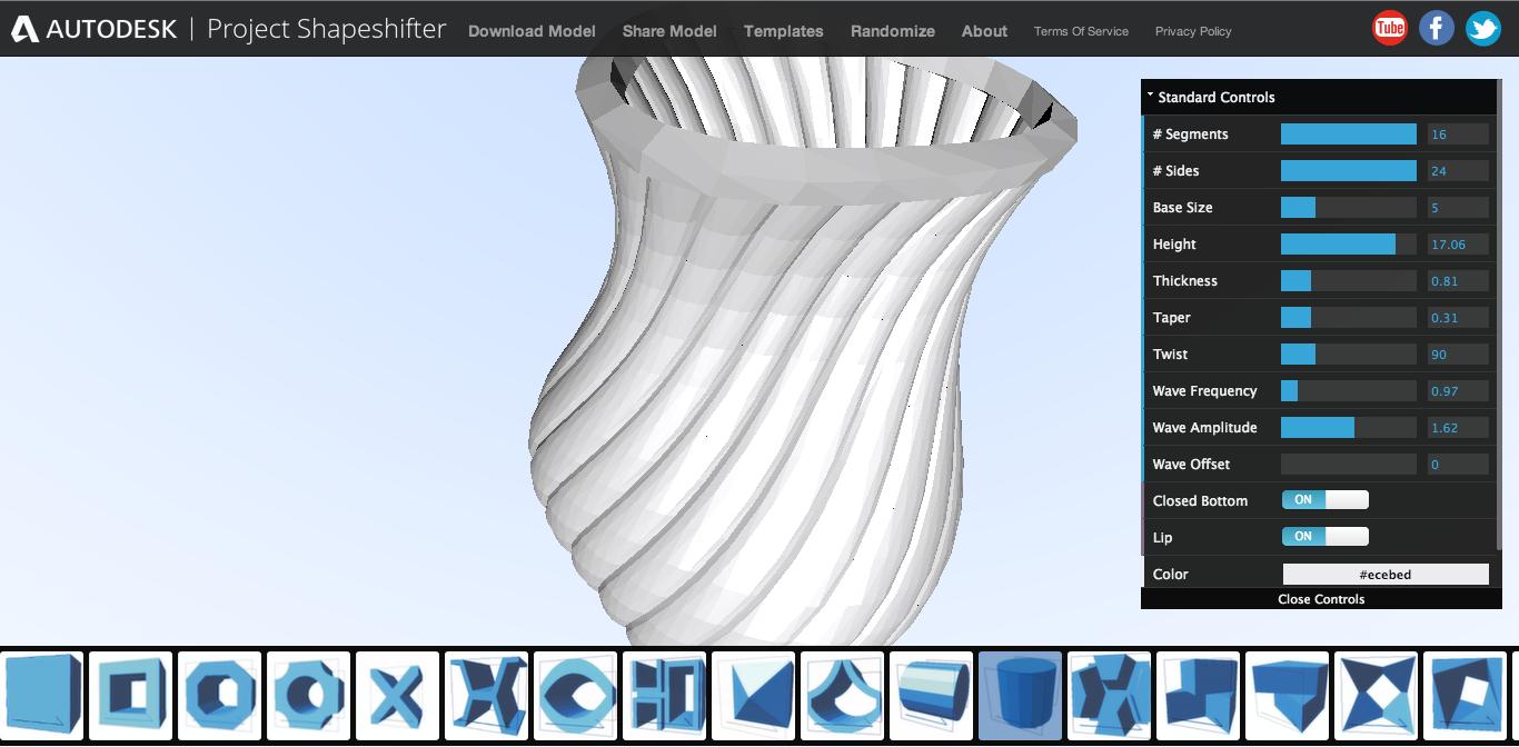 Autodesk、Webブラウザ上で利用できる3DCGツール「Project Shapeshifter」を提供開始1