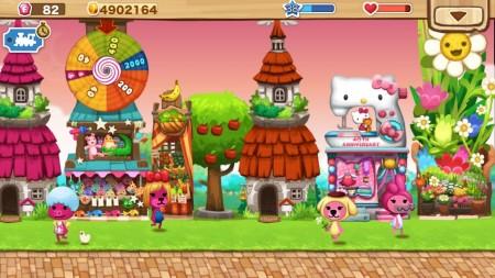 3rdKind、スマホ向けシミュレーションゲーム「ハッピーストリート」にてサンリオのスマホ向け遊園地運営ゲーム「Hello Kitty World」とコラボ2