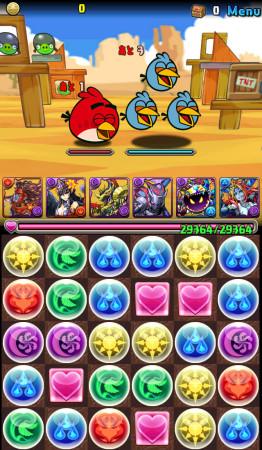 あんまり怒ってない? ガンホー、「パズル&ドラゴンズ」と「Angry Birds」とのコラボ画像を一部公開1