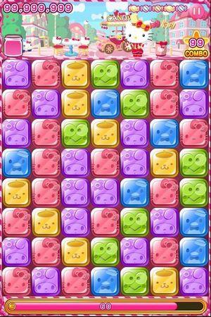 ニフティとサンリオウェーブ、共同でスマホ向けパズルゲーム「Hello Kitty Candy」のiOS版をリリース2