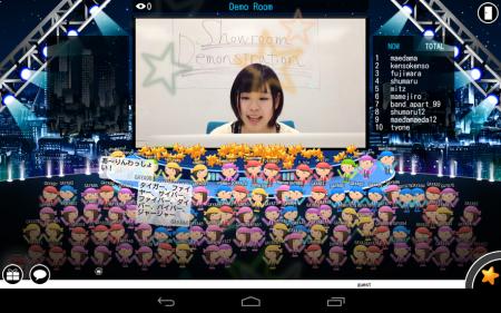 DeNA、仮想ライブ空間「Showroom」のAndroidアプリ版をリリース
