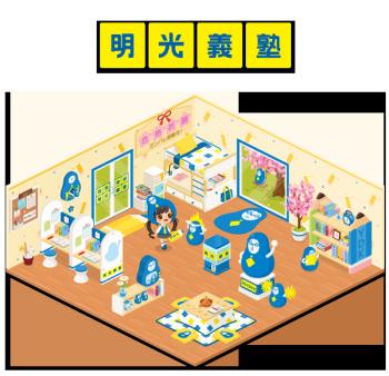 明光義塾の「ダルマはかせ」がLINE Playに登場!