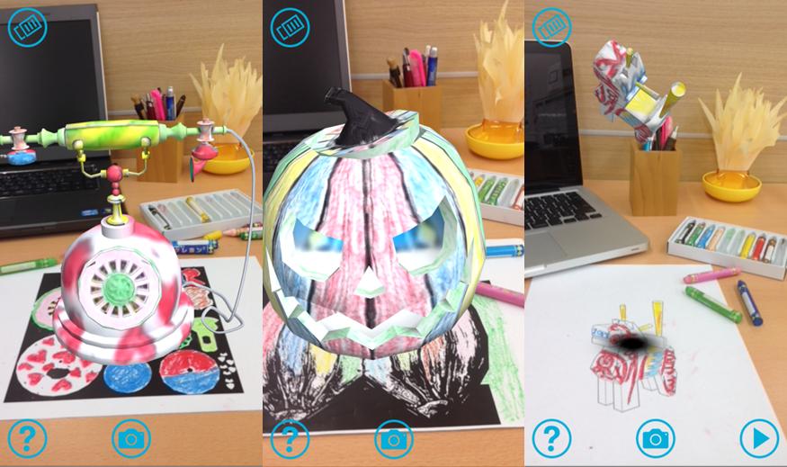 ナレッジワークス、 塗り絵が動く新感覚3D塗り絵ARアプリ 「ぬってポン!3DぬりえAR daub だーぶ」をリリース1