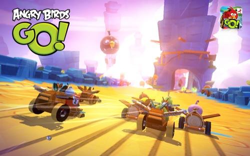ダウンロード無料! Rovio、Angry Birdsシリーズ最新作にして初のレーシングゲーム「Angry Birds Go!」をリリース2