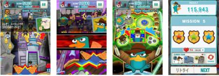 DeNA、ディズニーの人気アニメ「フィニアスとファーブ」のゲームアプリ「ディズニー エージェントボール」をリリース2