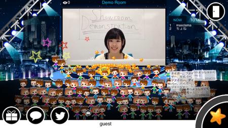 DeNA、仮想ライブ空間「Showroom」のiOSアプリ版をリリース