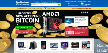 米Web通販のTigerDirect、決済手段に仮想通貨「Bitcoin」を導入