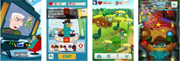 DeNA、ディズニーの人気アニメ「フィニアスとファーブ」のゲームアプリ「ディズニー エージェントボール」をリリース1