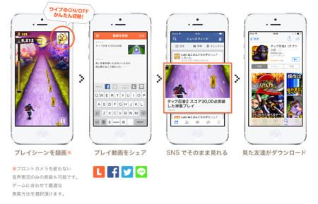 カヤック、ゲームコミュニティ「Lobi」にてスマホゲーム実況録画SDKを配布開始