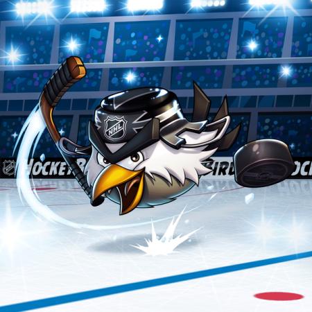 米NHL、Angry BirdsっぽいRovioデザインの鳥キャラ「HockeyBird」をマスコットキャラとして起用